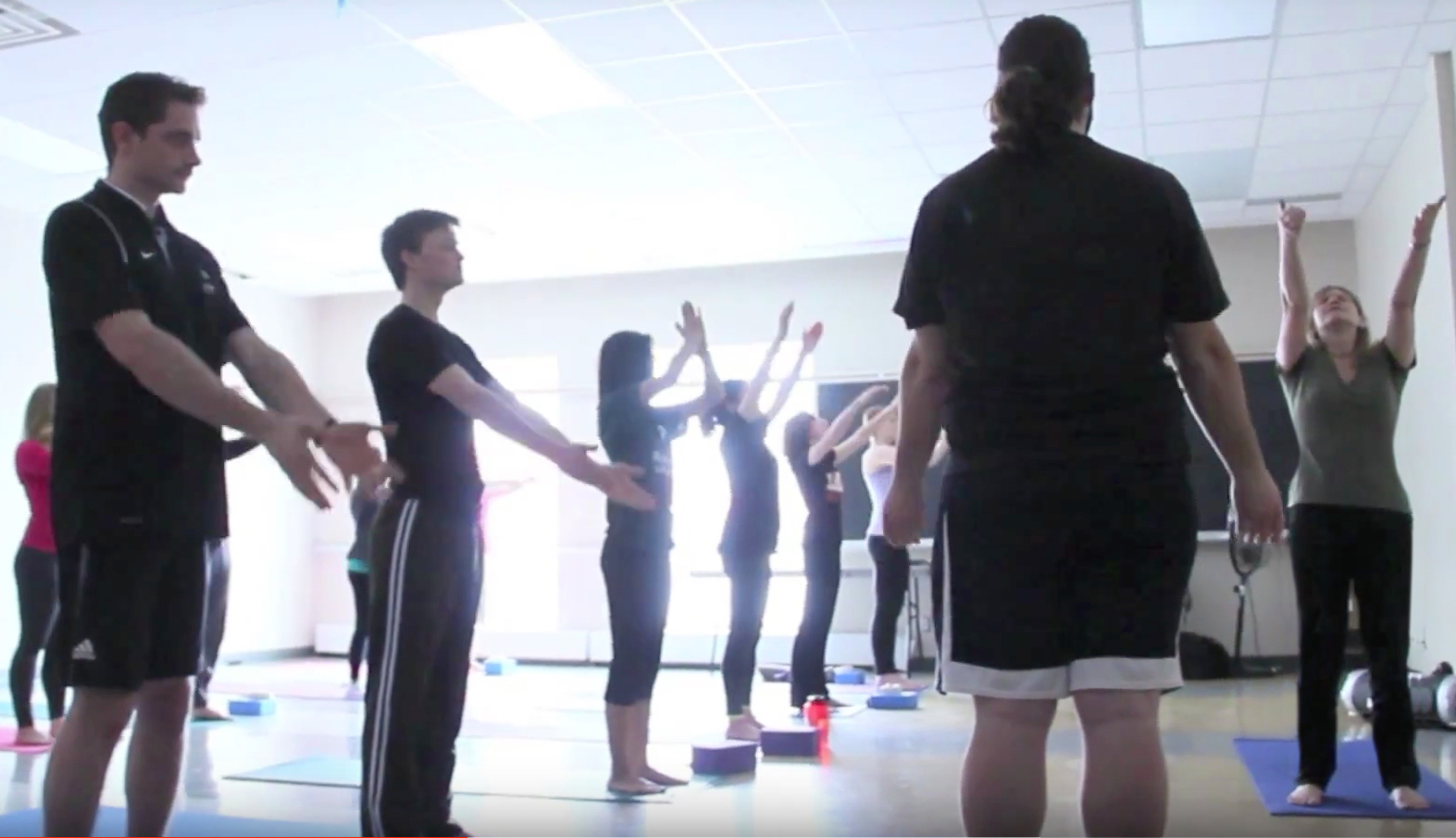 Kaia's yoga class